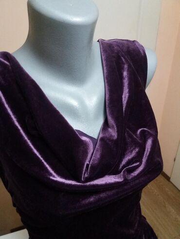 H&M haljina. ljubicasti pliš. velicina midi. 38. uplata na