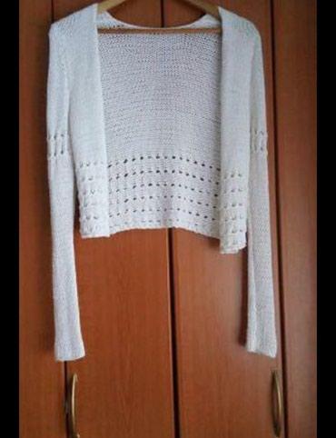 Zlatnosrebrni-pleteni-kaiscm-duzina - Srbija: Pamucni pleteni džemper
