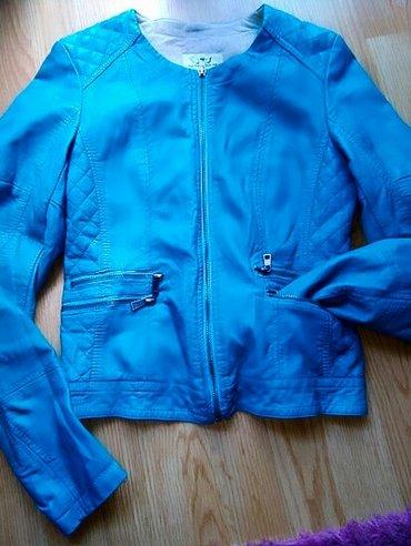 Nova tirkizna kozna jakna, eko-koza. M velicina, odgovara bi i s. Prel - Bor