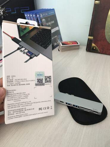 Продаю хаб для MacBook Pro моделей от 2016г.  Имеет слоты для SD и mic