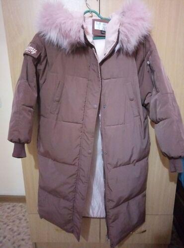 пуховики на зиму в Кыргызстан: ПРОДАЮ зимнюю куртку oversize. Пуховик. Состояние хорошее. Цвет очень