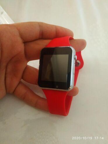 Digər mobil telefonlar - Azərbaycan: Smartwatch yeni qirmizi rengkameramicrocardsimcardwatsappinternet ve s