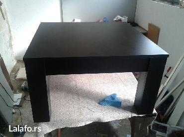 -klub sto se izradjuje od univera 18 mm u crnoj boji -dimenzije su 7 - Sopot