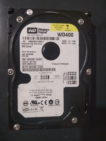 Продам жёсткий диск WD400 на 40Гб. За 250 сом