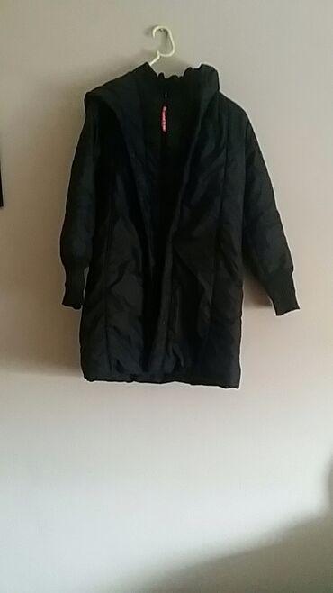 Kosa na klipse - Kula: Kookai jakna suskavac 2 kopcanja cibzar na kapuljaci očuvano teget