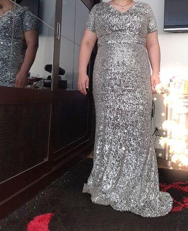 вечернее платье 48 50 размер в Кыргызстан: Платье на вечер, пр-о Турция, в идеальном состоянии новое, размер 48-5