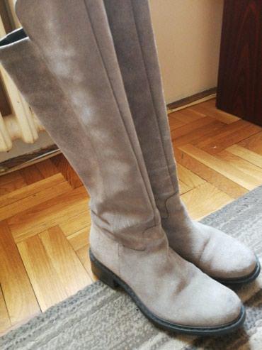 Kvalitetne cizme, kozne, ne propustaju vodu, broj 36, malo nosene, - Batajnica