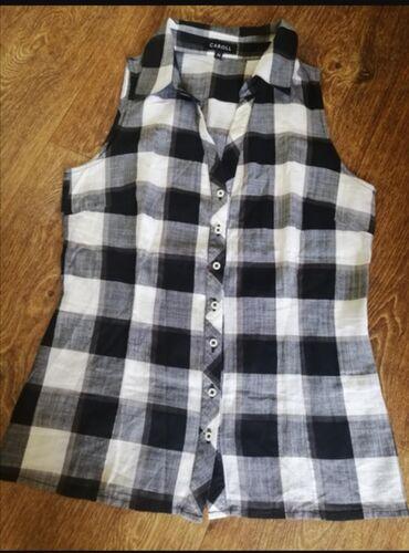 Košulje i bluze | Srbija: Karirana kosulja, bez rukava, pamuk, prelagana. Odgovara velicini xs/s