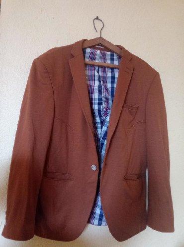 Пиджак мужской.коричневый.мало мерит на 50 -размер подайдет