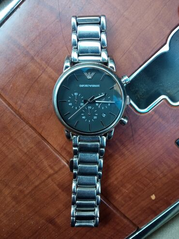 открытки бишкек в Кыргызстан: Серебристые Мужские Наручные часы Armani
