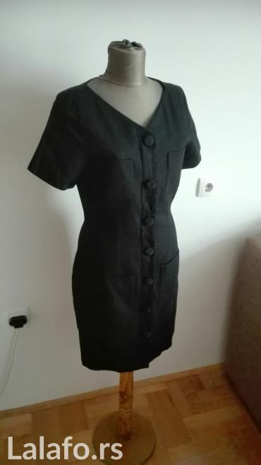 Crna haljina vel. S/m pamuk 100% ima postavu zakopcavanje na rajfeslus - Kragujevac