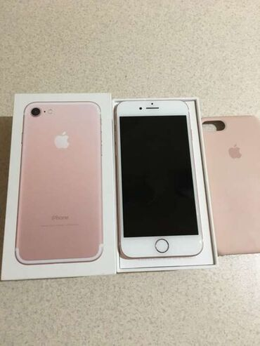 IPhone 7 | 128 ГБ | Розовое золото (Rose Gold) | Б/У | Гарантия, Отпечаток пальца
