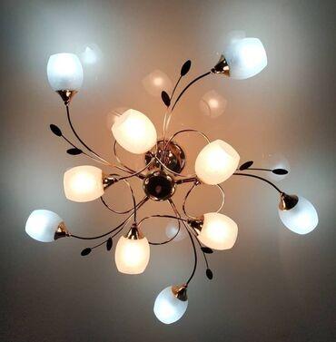 Люстры на 10 лампочек новинка качество отличное есть два цвета золото