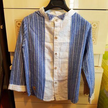 Мужская одежда - Талас: Мальчиковая рубашка на лет 6-7. Одевал пару раз. 100% хлопок