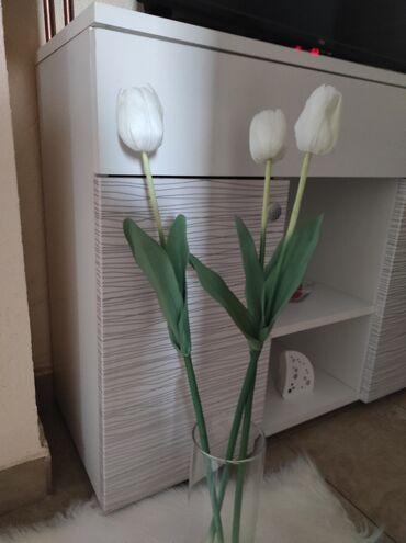 Majica la costa - Srbija: Tri lale,bele, dekorativne