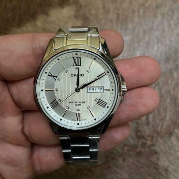 часы-и-нож в Кыргызстан: Серебристые Мужские Наручные часы Casio