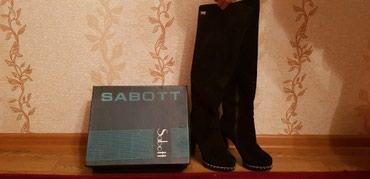 Продаю замшовые сапоги на каблуках в Бишкек