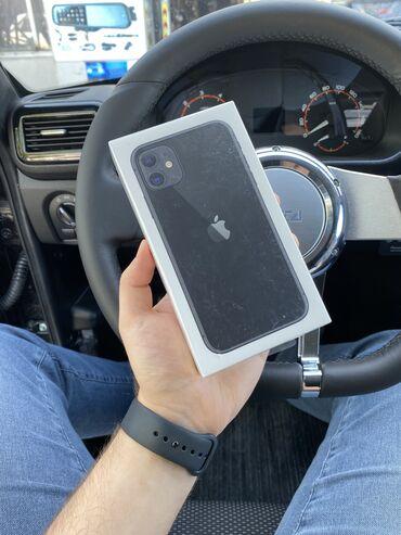 IPhone 11 | 64 GB | Qara | Yeni | Zəmanət, Simsiz şarj, Face ID