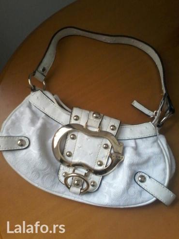 Od-skaja - Srbija: Guess torbica kombincija platna i skaja kao nova