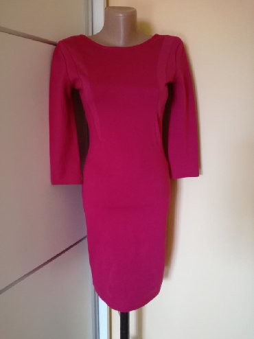 Haljina-pamuk-sa-elastinom - Srbija: Amisu haljina velicina S, uzivo tamnija boja nije drecava. Pamuk sa
