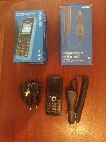 Bakı şəhərində Nokia 105 1 ədəd zaryatka 1 ədəd maşın zaryatkası.Telfonun