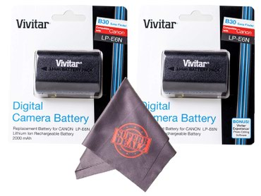 Vivitar LP-E6 LP-E6N High Capacity 2000mAH Li-ion Batteries for CANON в Бишкек