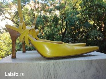 Sandale žute, br. 38, štikla 9 cm - Belgrade