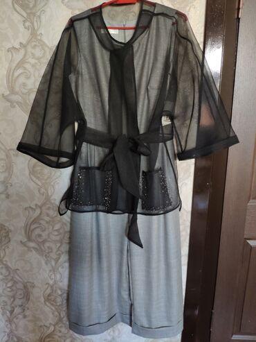 raz 46 в Кыргызстан: Продаю платье- комбинезон с органзой и пояском в комплекте. Размер