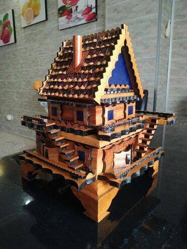 работа в отеле бишкек в Кыргызстан: Деревянный домик шкатулка, ручная работа!Натуральное дерево, 2