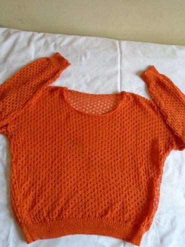 Narandzasta bluzica, kao heklana u solidnom stanju. Može se nositi - Belgrade
