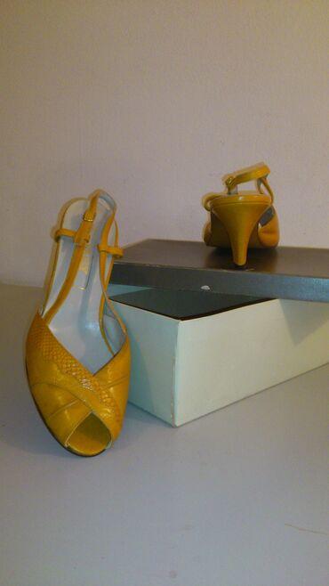 Zenski elegantan - Srbija: Prodajem potpuno nove original Bally kozne, oker (boja