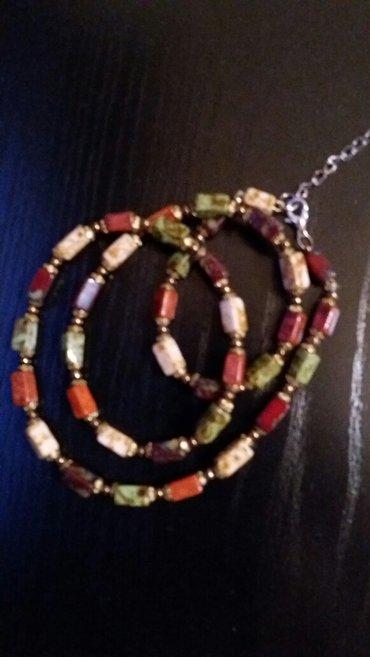 Starinska ogrlica od poludragog kamenja duzine 60 cm. Velicina perli 2 - Paracin