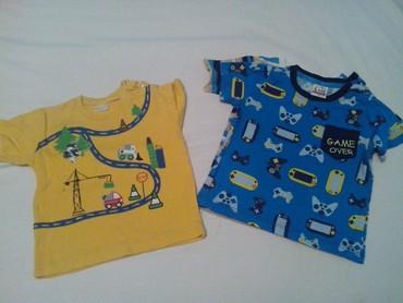 Dečiji Topići I Majice | Ruma: Pet majica kratak rukav za dečake uzrasta od 12 do 18 meseci, veličina