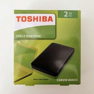 внешний жесткий диск 3 tb в Кыргызстан: Внешний жёсткий диск Toshiba2TB Canvio Basics