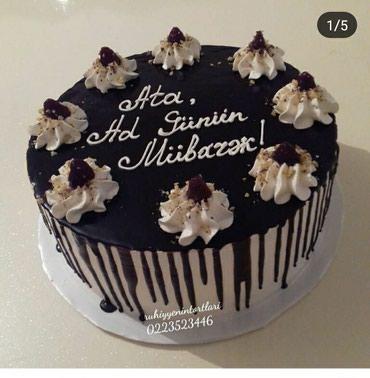 Bakı şəhərində Şakalatlı tortlar.ünvana çatdırılır