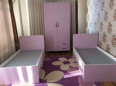 80*150  cm    2- кровать и 1- шкаф в Бишкек