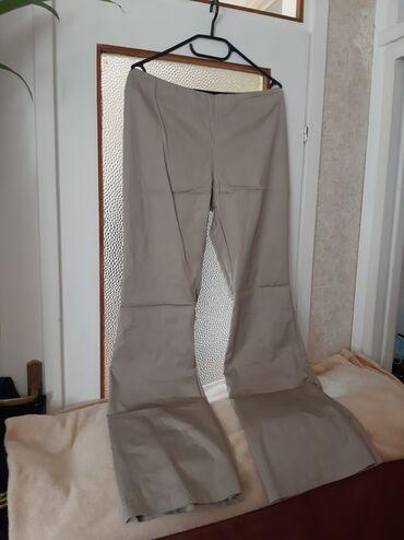 Ženska odeća | Crvenka: Bež pantalone. Velicna 46( Italijanski ogovara nasem 44). Platnene