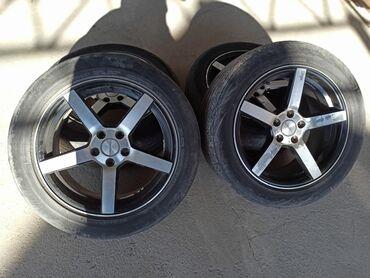 """диски литые r16 5х 114 3 в Кыргызстан: Диски """"vossen"""" 5*100 R16 от Toyota Avensis Резины лысые состояние 25%"""