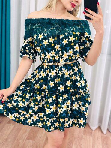 Шикарное платье крестьянка с кружевами  размеры:48  Цена:600
