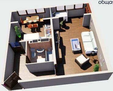 Продается квартира: 106 серия улучшенная, Кок-Жар, 1 комната, 44 кв. м