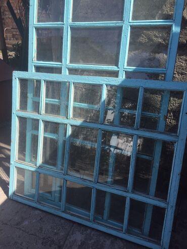Ремонт и строительство - Кара-Балта: 2 окна б/у есть разбитые стёкла, на двух окнах, но не все там пару