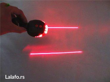 Zadnje svetlo za biciklo sa Laserom . Baterije se dobijaju u kompletu - Beograd - slika 5