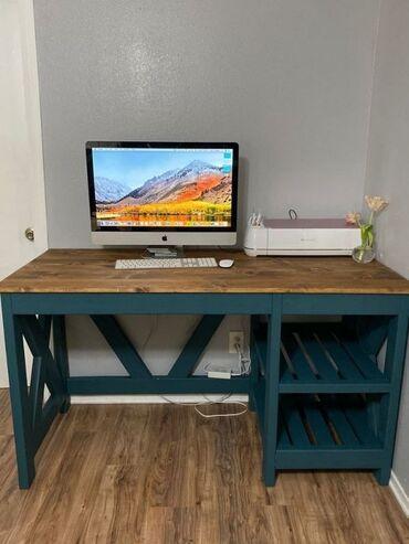 Рабочий стол из дерева в стиле Лофт на заказМебельЛофтСтолРабочий стол