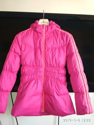 детская куртка в Кыргызстан: Пуховик  Детский(женский) Розовый Теплый  С фликером Оригинал (Адидас)