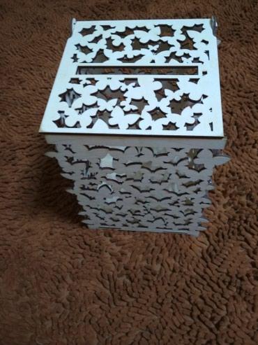 Деревянный ящик под конверты для денег на свадьбе