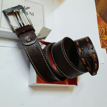 Digər aksesuarlar Azərbaycanda: Leather belt brand Armani