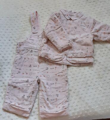74 - Srbija: Kanz pantalone tregerice i jaknica za devojcice br 74 (9