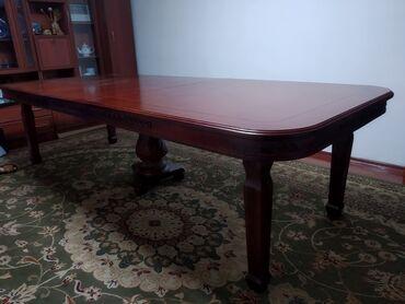 стол и стулья для гостиной в Кыргызстан: Стол размер 3.0 метра на 1.2 метра, удлиняется до 4.0 метров, высота