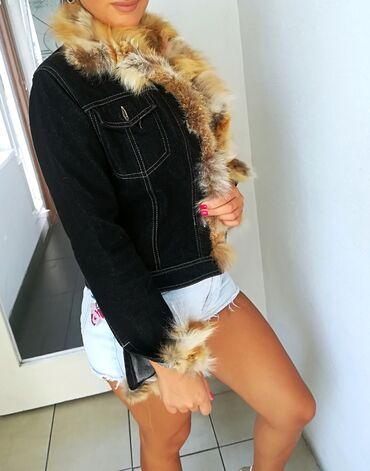 Jakna sa prirodnim krznom - Srbija: Teksas jakna sa prirodnim krznom lisice Vel S M