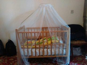 Кроватка детская из бамбука есть люлька для новорожденных в комплекте в Бишкек